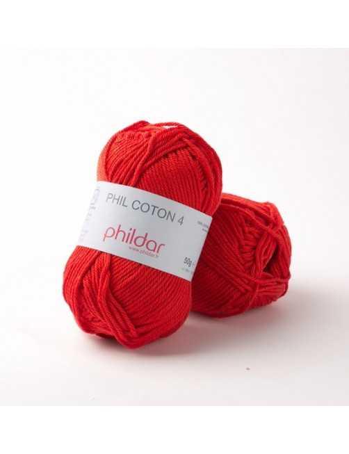 Phildar Phil Coton 4 cerise