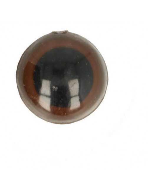 Animal eye 18 mm brown