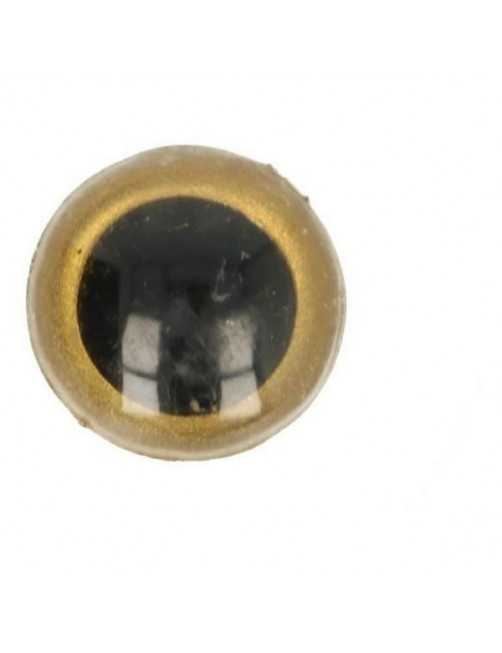 Animal eye 18 mm gold