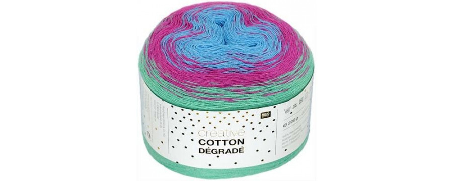 Knitting yarn  Creative Cotton Dégrade